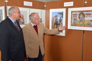 Die Koordinatoren der Ausstellung: Horst Drach (links) und Hans-Georg Reuter (rechts).