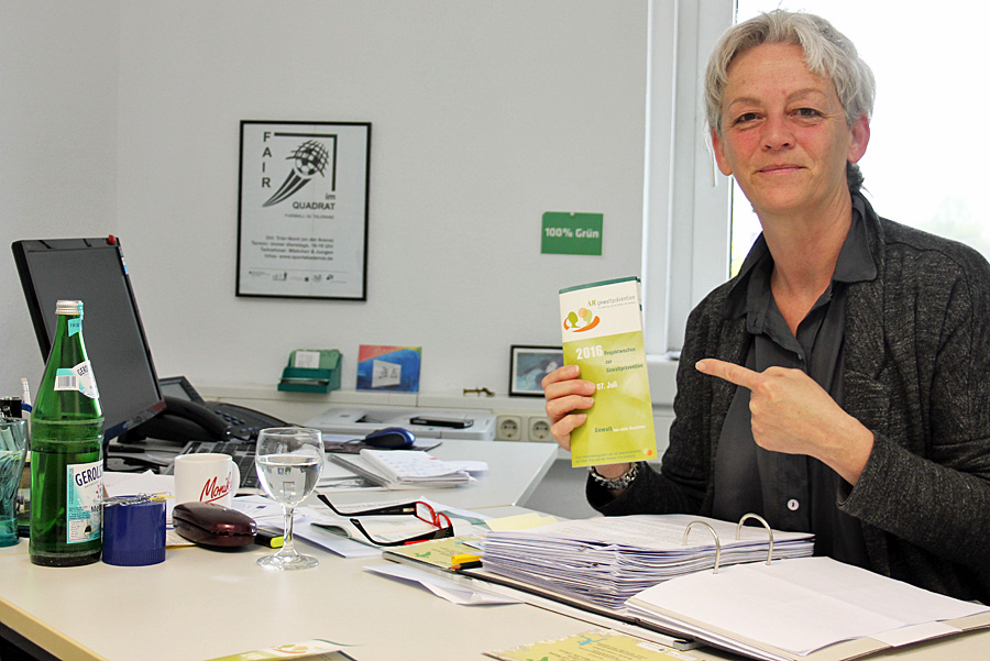 Petra Job vom Arbeitskreis Gewaltprävention. Foto: Presseamt Trier