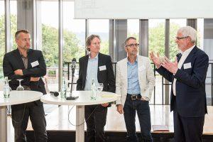 Diskussionsrunde: Hans Werner Meyer, Carsten Stumpenhorst, Stefan Zawar-Schlegel und Moderator Heiner Schneider (von links)
