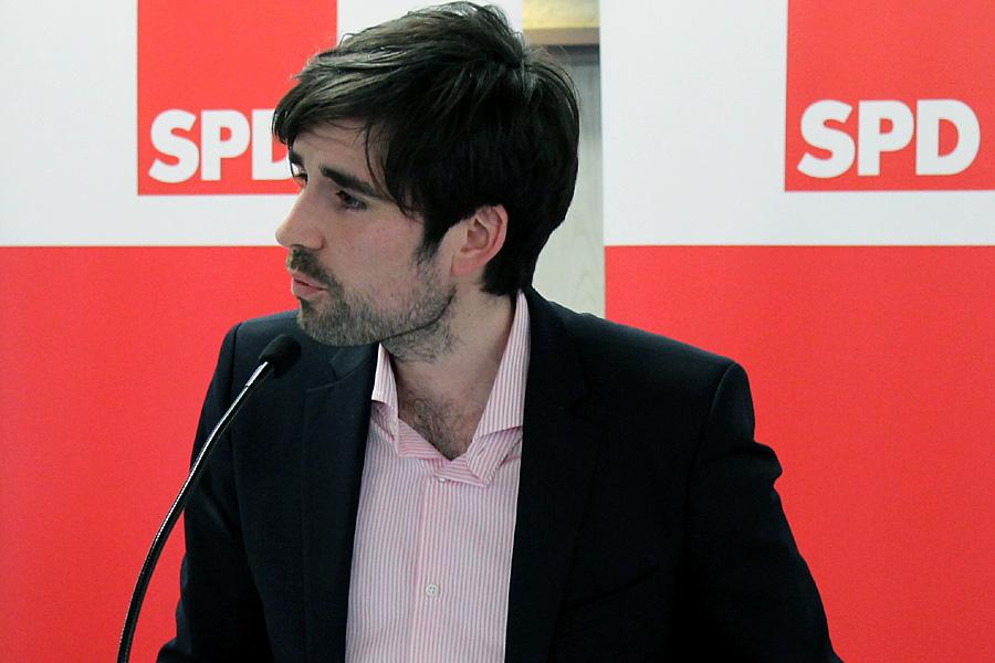 Stand so ziemlich allein auf weiter Flur: SPD-Chef Sven Teuber.