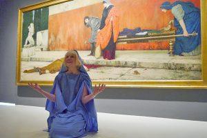 Paula Kolz in der Rolle von Neros Liebhaberin Claudia Acte. Foto: Stadtmuseum Simeonstift