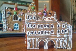 Der Fantasie sind beim Lebkuchen-Wettbewerb keine Grenzen gesetzt, hier die Porta Nigra mit Zuckergussdekor. Foto: Stadtmuseum Simeonstift