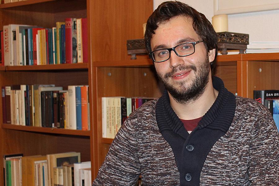 Trommeln für die FDP: Adrian Assenmacher.