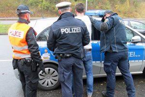 Einsatz der Polizei im Kampf gegen internationale Kriminalität. Foto: Polizei