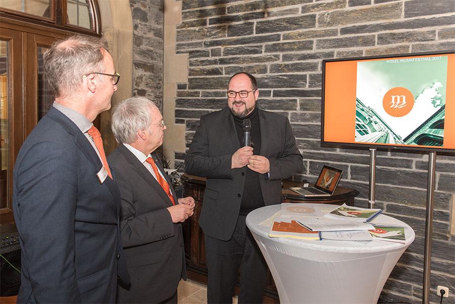 Auch der wohl scheidende Trierer Kulturdezernent Thomas Egger (SPD) nahm am Freitag an der Pressekonferenz des MMF teil.