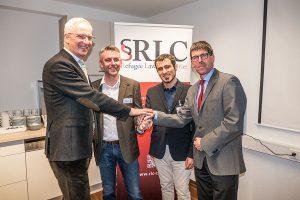 Zusammen für Trier: OB Wolfram Leibe, SEKIS-Geschäfsführer Carsten Müller-Meine, RLC-Vorsitzender Ammar Bustami und Uni-Präsident Michael Jäckel.