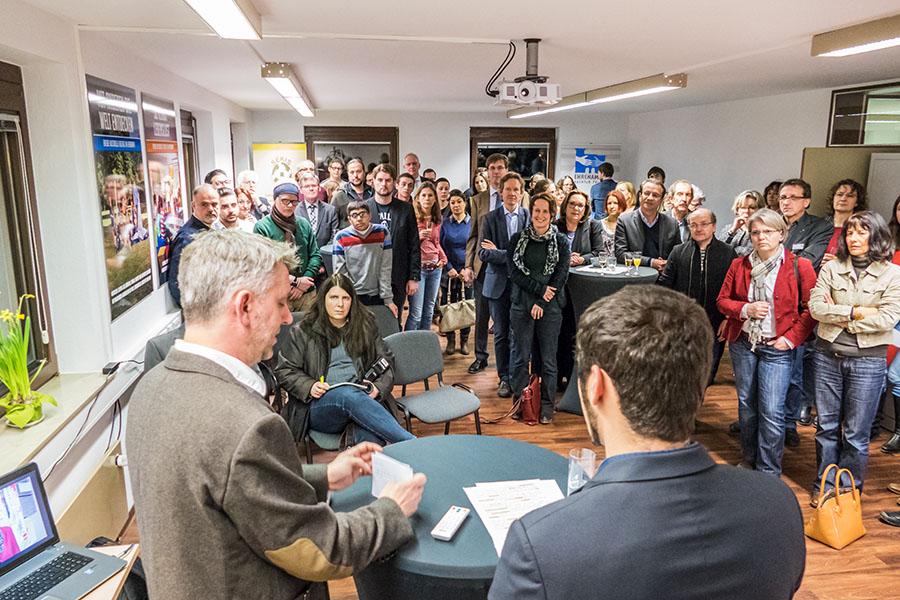 Gäste aus allen Bereichen des öffentlichen Lebens sind der Einladung zur Vorstellung der neuen Räumlichkeiten gefolgt. Fotos: Rolf Lorig